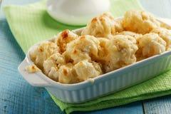 Couve-flor cozida com queijo Imagens de Stock