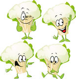 Couve-flor - engraçada ilustração stock