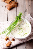 Couve-flor, pastinaga, batata, sopa do aipo Imagem de Stock