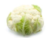 Couve-flor saudável sobre o branco Imagens de Stock Royalty Free