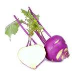 Couve-rábano roxa fresca Fotografia de Stock