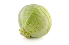 Couve verde isolada no branco Foto de Stock