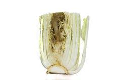 Couve verde podre isolada em um fundo branco Foto de Stock Royalty Free