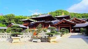 couvent bouddhiste de lin de chi à Hong Kong Photographie stock