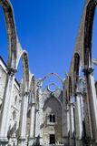 Couvent de Carmo à Lisbonne Photographie stock