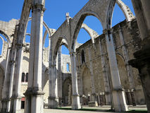 Couvent de Carmo à Lisbonne Photo stock