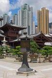 Couvent de lin de Chi, temple chinois de type de dynastie de Tang, Hong Kong image stock