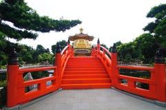 Couvent de lin de Chi, temple de Chinois de type de dynastie de patte photos stock