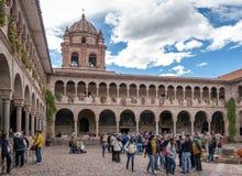 Couvent de Santo Domingo Courtyard chez Qoricancha Inca Ruins - Cusco, Pérou Photographie stock libre de droits