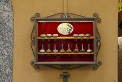 Couvercles de bouteille d'huile d'olive Photo libre de droits