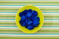 Couvercles en plastique Photo libre de droits
