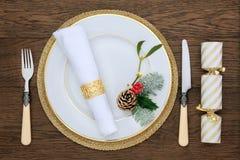 Couvert de dîner de Noël Photo libre de droits
