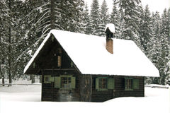 Couvert de neige Photographie stock