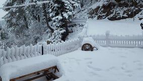 Couvert de neige de bel Pakistan hiver de déplacement hypnotisant de destination de beauté de l'Asie Photos libres de droits
