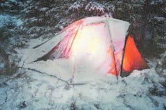 Couvert de tente de neige Photo libre de droits