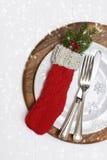 Couverts de Noël Photographie stock libre de droits