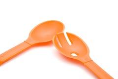 Couverts oranges de salade Photo libre de droits