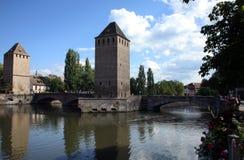 couverts Ponts Strasbourg France Fotografia Stock