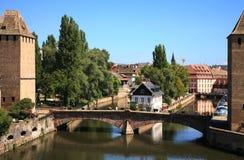 couverts Ponts Strasbourg France obrazy stock