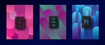 Couverture à la mode de brochure d'Art Print Web de bruit Image libre de droits