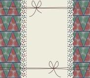 Couverture élégante avec les arbres de Noël stylisés Image stock
