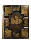 Couverture antique de bible Photographie stock
