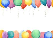 Couverture avec les ballons colorés illustration stock