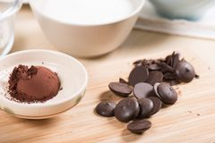 Couverture chocolate Stock Photography
