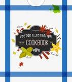 Couverture colorée pour le livre de cuisine, carnet avec des épices Photographie stock libre de droits