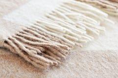Couverture confortable de laines d'alpaga Images libres de droits