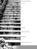 Couverture d'Ebook avec la volée d'escalier dans les graytones Image stock