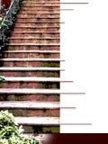 Couverture d'Ebook avec la volée d'escalier rouge foncé Photos libres de droits