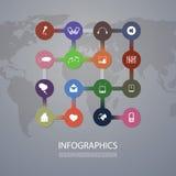 Couverture d'Infographics - réseaux Photographie stock