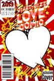 Couverture de bande dessinée d'amour de Géant-taille illustration libre de droits