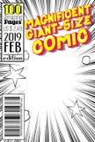 Couverture de bande dessinée Editable avec le fond abstrait illustration de vecteur