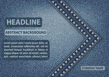 Couverture de blues-jean Photographie stock