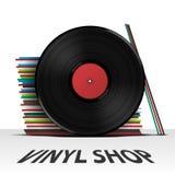 Couverture de boutique de disque vinyle illustration de vecteur
