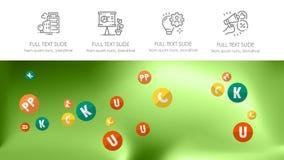 Couverture de brochure utilis?e dans le marketing et la publicit? illustration stock