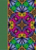 Couverture de carnet avec le beau modèle dans la conception de fractale Images stock