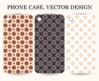 Couverture de cas de téléphone avec le fond ornemental Éléments géométriques décoratifs illustration de vecteur