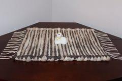 Couverture de laine tissée par main Image libre de droits