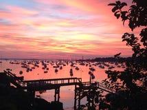 Couverture de lever de soleil au-dessus de Marblehead Images libres de droits