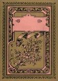 Couverture de livre antique de journal de journal intime de vintage photo stock