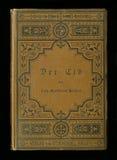 Couverture de livre antique de journal de journal intime de vintage Photographie stock libre de droits