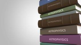 Couverture de livre avec le titre d'ASTROPHYSIQUE, rendu 3D illustration de vecteur