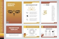 Couverture de livre et calibre de présentation illustration stock
