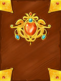 Couverture de livre magique d'imagination illustration stock