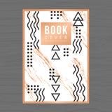 Couverture de livre moderne et propre de conception, profil de Poster, Flyer, Company, calibre de disposition de conception de ra Images stock