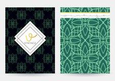 Couverture de magazine avec les modèles géométriques Calibre de page de couverture Photographie stock libre de droits