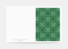 Couverture de magazine avec les modèles géométriques Calibre de page de couverture Photo stock